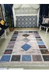 Carven Paris Yıkanabilir Mavi Salon Halısı 1022